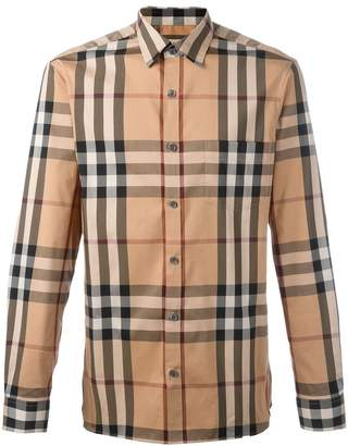 Burberry House check cotton-blend shirt
