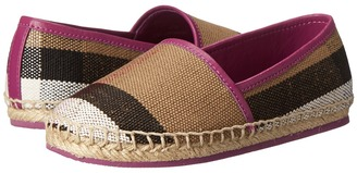 Burberry Kids - Espadrille with Check Girl's Shoes $165 thestylecure.com