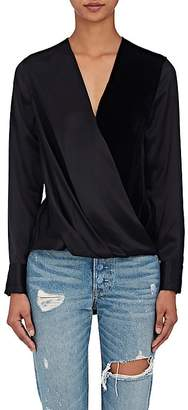 Rag & Bone Women's Victor Silk Crossover-Front Blouse