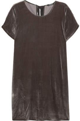 Madewell Velvet Mini Dress - Gray