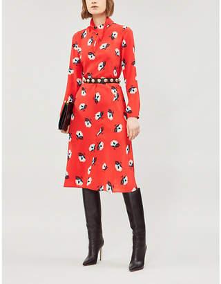 Etro Floral-print silk-crepe dress