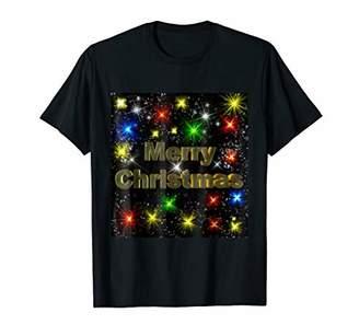 Merry Christmas Shirt With Colorful Lights