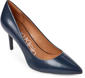 Calvin Klein Navy Gayle Leather Pumps