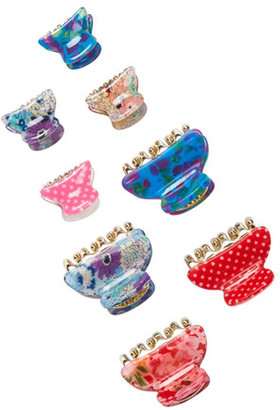 FINEST ACCESSORIES Wild Flower Hair Clips - Set of 8 $18.97 thestylecure.com