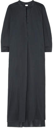 Eres Odette Cotton-voile Maxi Dress - Charcoal