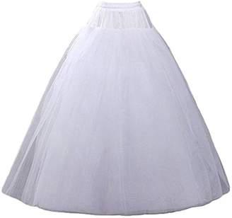 MLQM Women Hoopless 4 Layers Petticoat Crinoline Underskirt Slips Wedding Party