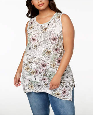 Style&Co. Style & Co Plus Size Printed Tank Top, Created for Macy's