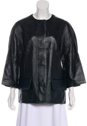 Marni Button-Up Leather Jacket w/ Tags