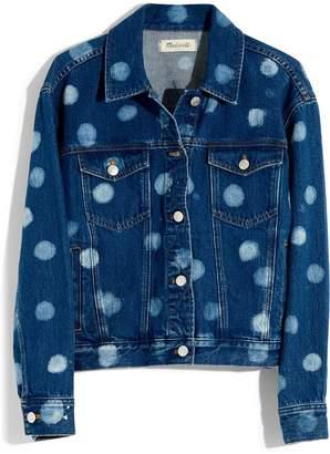 Madewell Polka Dot Boxy Crop Jean Jacket