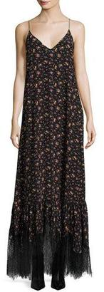 McQ Alexander McQueen Sleeveless Maxi Slip Dress, Vintage Floral $950 thestylecure.com
