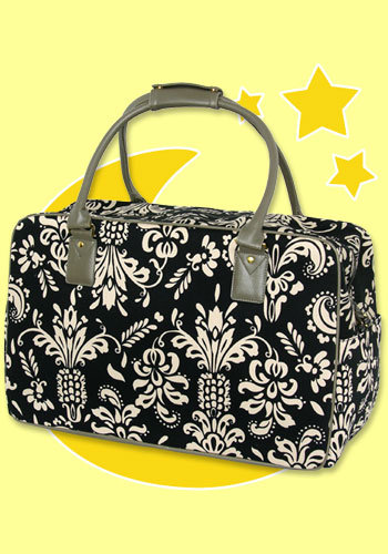 Bedhead Black Pineapple Overnight Bag
