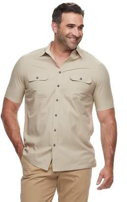 Croft & Barrow Big & Tall Regular-Fit Quick-Dry Woven Button-Down Shirt