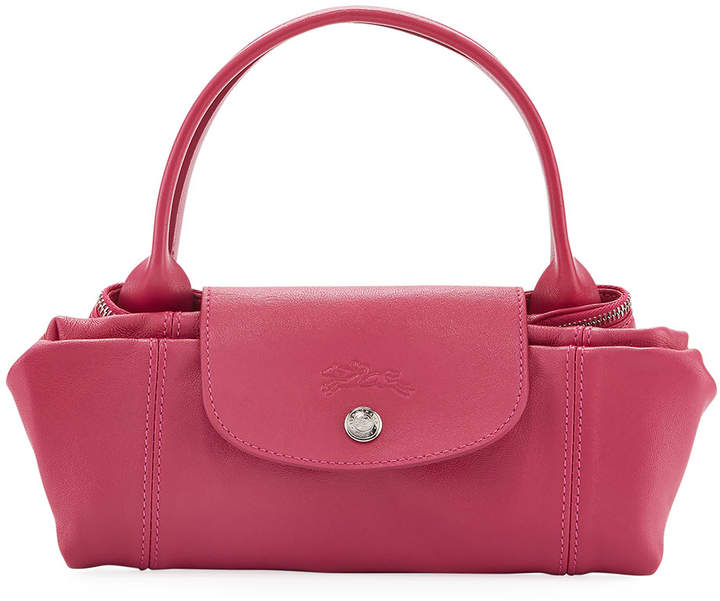 Longchamp Le Pliage Cuir Small Tote Bag, Pink - PINK - STYLE