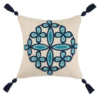 Trina Turk 20x20 Desert Medallion Embroidered Pillow - Indigo Blue