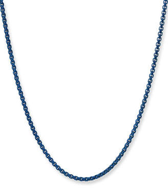 """David Yurman Men's Acrylic-Coated Stainless Steel Box Chain Necklace, 24"""""""