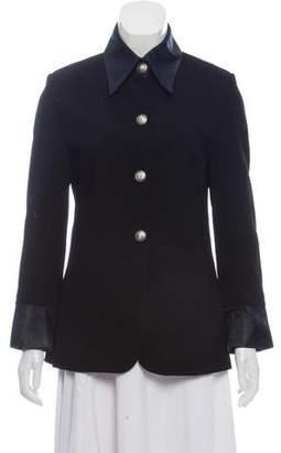 Versace Point Collar Button-Up Jacket