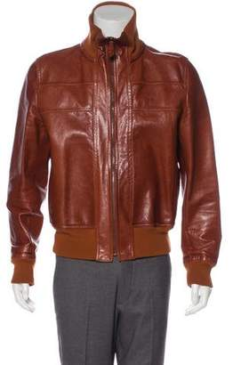 Bottega Veneta Leather Bomber Jacket