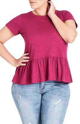 City Chic Spring Frill Cotton Top