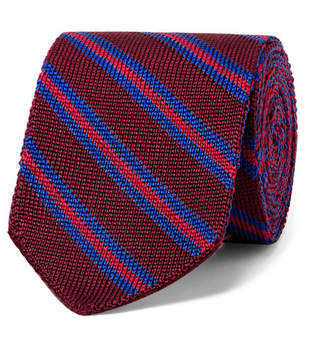 Etro 6cm Striped Knitted Silk Tie