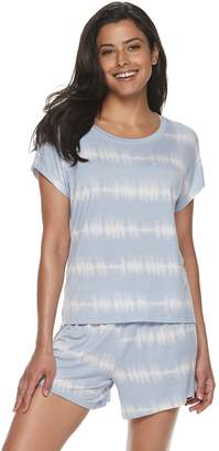 Sonoma Goods For Life Women's SONOMA Goods for Life Tie-Dye Sleep Tee & Pajama Shorts Set