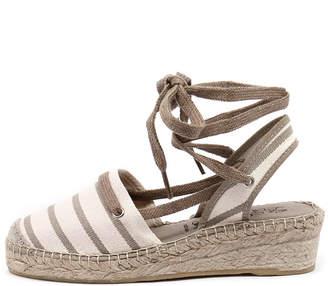 La maison de l'espadrille La maison de l'espadrille 546 Ecru-linen Sandals Womens Shoes Casual Heeled Sandals