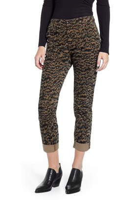 AG Jeans Caden Print Ankle Twill Trousers