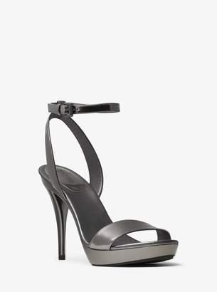 MICHAEL Michael Kors Catarina Metallic Leather Sandal