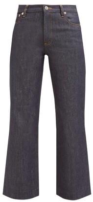 A.P.C. Sailor Cropped Raw Denim Jeans - Womens - Indigo