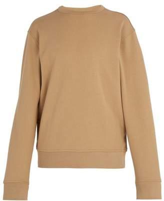 Maison Margiela Elbow Patch Cotton Sweatshirt - Mens - Beige
