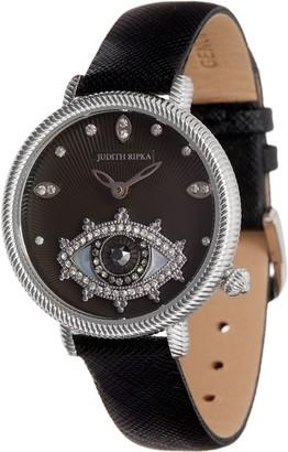 Judith Ripka Stainless Steel Silvertone Evil Eye Watch