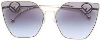 Cat Eye Fendi Eyewear oversized sunglasses
