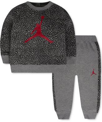 Jordan Baby Boys' 2-Pc. Jumpman Sweatshirt & Pants Set $40 thestylecure.com