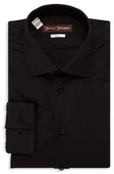 Hickey Freeman Long Sleeves Cotton Dress Shirt