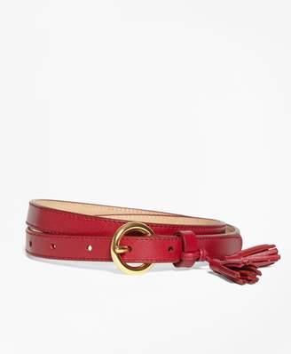 Brooks Brothers Tasseled Leather Belt