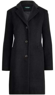 Ralph Lauren Wool-Blend Coat Black 10