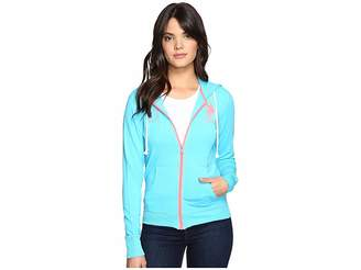 U.S. Polo Assn. Neon Pop French Terry Hoodie Women's Sweatshirt