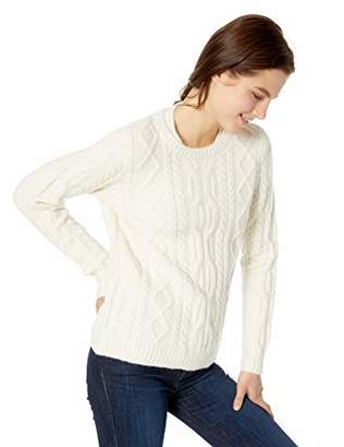 Lacoste Women's Long Sleeve Cableknit Crewneck Wool Blend Sweater