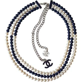 Chanel Navy Steel Necklace
