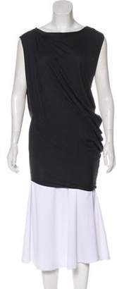 AllSaints Sleeveless Asymmetrical Tunic Grey Sleeveless Asymmetrical Tunic