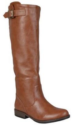 Co Brinley Women's Round Toe Buckle Detail Boots