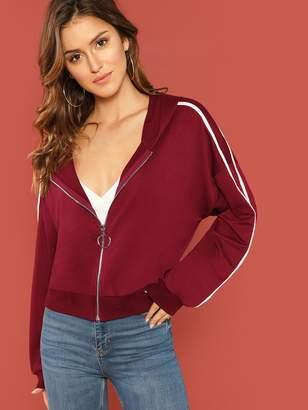 6f03803ed2a Womens Long Hooded Zip Sweatshirt - ShopStyle