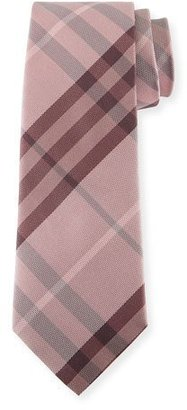 Burberry Heathered Check Silk Tie, Pink $190 thestylecure.com