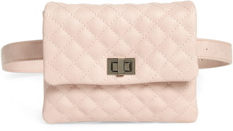 Mali & Lili Quilted Vegan Leather Belt Bag