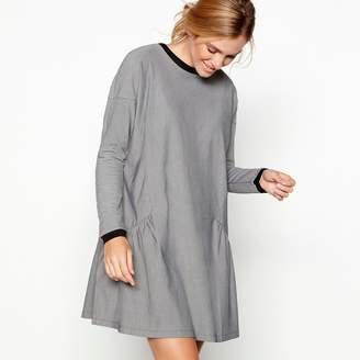 Noisy May Simple Stories - Black Cotton Blend 'Ellie' Long Sleeve Mini Smock Dress
