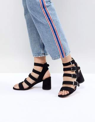 Faith Buckle Block Heeled Sandals
