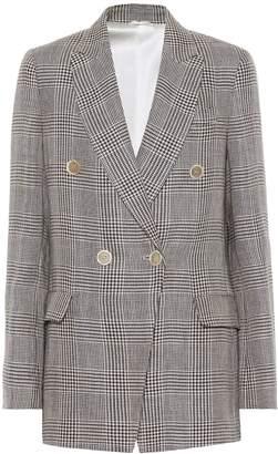 Brunello Cucinelli Checked linen blazer