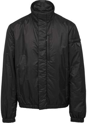 Prada funnel-neck windbreak jacket