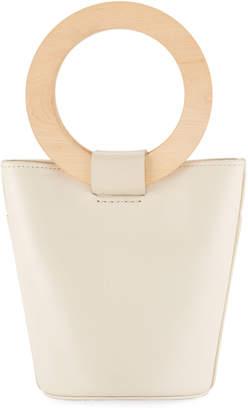 Modern Weaving Leather Mini Circle Bucket Bag