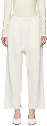 MM6 MAISON MARGIELA Off-White Cropped Lounge Pants