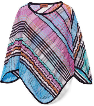 Missoni Crochet-knit Poncho - Blue